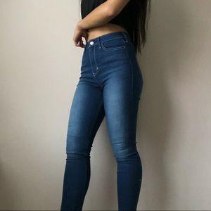 High-rise Blue Skinny Jeans